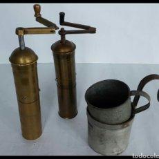 Antigüedades: MOLINILLOS DE CAFE TURCO Y ALBANÉS. Lote 131598053