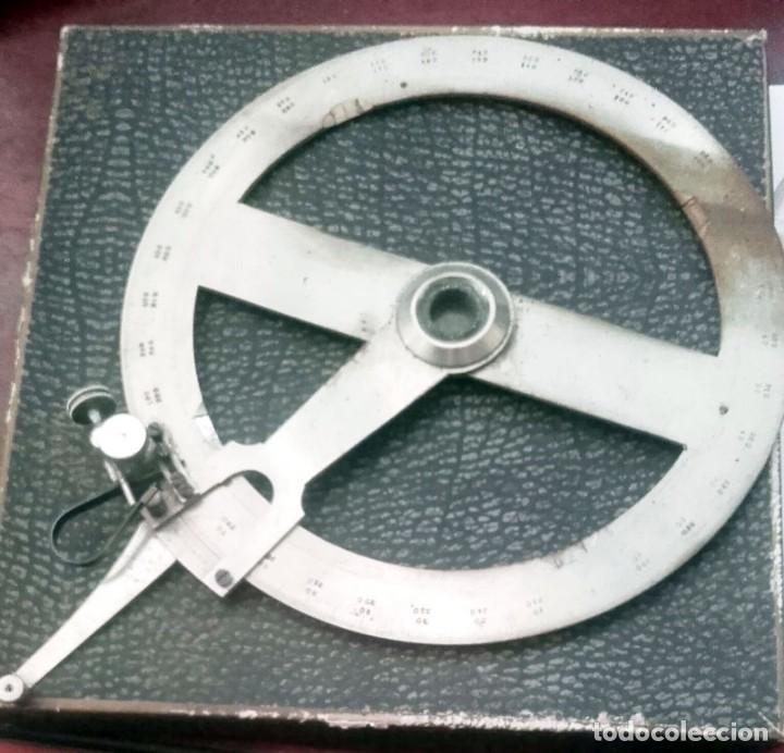 Antigüedades: ANTIGUO MEDIDOR DE ANGULOS 360 GRADOS. DE ACERO - Foto 2 - 131610898
