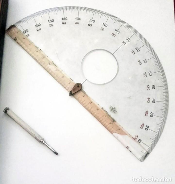 Antigüedades: ANTIGUO MEDIDOR DE ANGULOS 360 GRADOS. DE ACERO - Foto 5 - 131610898