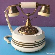 Teléfonos: IMITACION DE TELEFONO ANTIGUO DE RULETA EN MADERA Y METAL - VER FOTOS. Lote 131641974