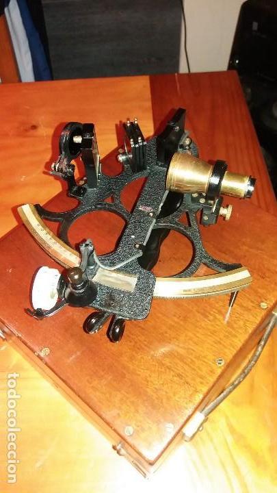 SEXTANTE ANTIGUO MADE IN GRAN BRETAÑA (Antigüedades - Técnicas - Otros Instrumentos Ópticos Antiguos)