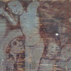 Antigüedades: PLACA PLANCHA GRANDE DE IMPRENTA GRABADO MOTIVOS RELIGIOSOS. Lote 131742447