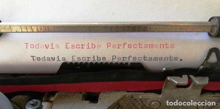 Antigüedades: MAQUINA DE ESCRIBIR PORTATIL- OLIVETTI LETTERA 42- MUY BUEN ESTADO - Foto 6 - 131074708