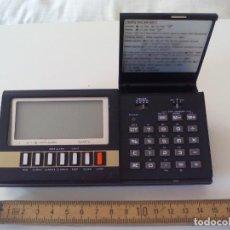 Antigüedades: VINTAGE CALCULADORA Y RELOJ. CASIO MQ-200 MQ200 LCD ELECTRONIC CALCULATOR CLOCK AÑOS 80, JAPAN. Lote 131788426