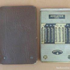 Antigüedades: ANTIGUA CALCULADORA MANUAL - ADDIATOR SUPRA - SUMA, RESTA. Lote 131873146