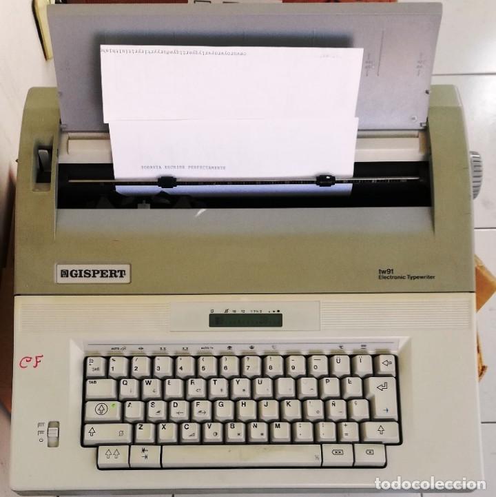 MAQUINA DE ESCRIBIR ELECTRÓNICA- GISPERT TV 91- PORTATIL- MUY BUEN ESTADO (Antigüedades - Técnicas - Máquinas de Escribir Antiguas - Otras)