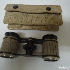 Antigüedades: BINOCULAR FORRADO EN SIMIL PIEL DE SERPIENTE CON FUNDA A JUEGO. --- 2. Lote 131972706