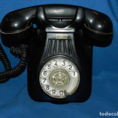 Teléfonos: (M) TELEFONO ANTIGUO MURAL DE BAQUELITA NEGRO STANDARD ELECTRICA MADRID . Lote 132014722