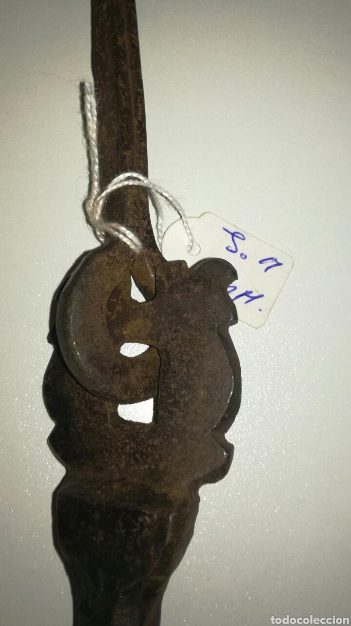 Antigüedades: Llamador de forja poco antiguo - Foto 3 - 132314158