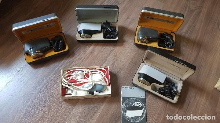 Antigüedades: Lote de 5 maquinas antiguas de afeitar Philishave - Foto 2 - 132367074