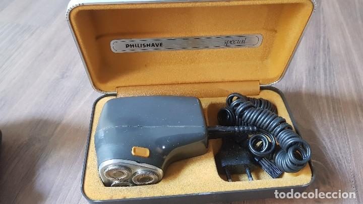 Antigüedades: Lote de 5 maquinas antiguas de afeitar Philishave - Foto 5 - 132367074