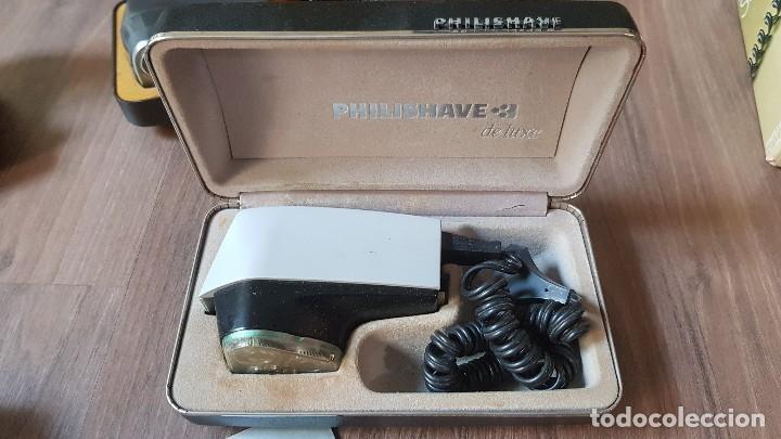 Antigüedades: Lote de 5 maquinas antiguas de afeitar Philishave - Foto 7 - 132367074