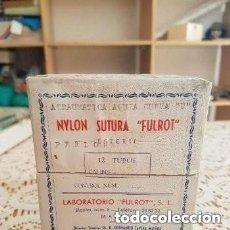 Antigüedades: ÚNICO SUTURA NYLON MARCA FULROT (HERIDAS). Lote 132434618