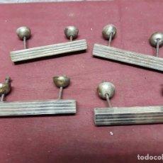 Antigüedades: LOTE 4 TIRADORES / MANILLAS... ART DECO. Lote 132437814
