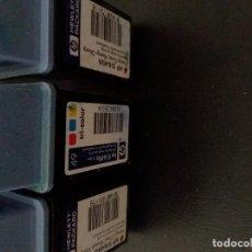Antigüedades: CARTUCHOS HP 51649 TRICOLOR FUNCIONANDO LLENOS DESKJET Y APPLE. Lote 132449762