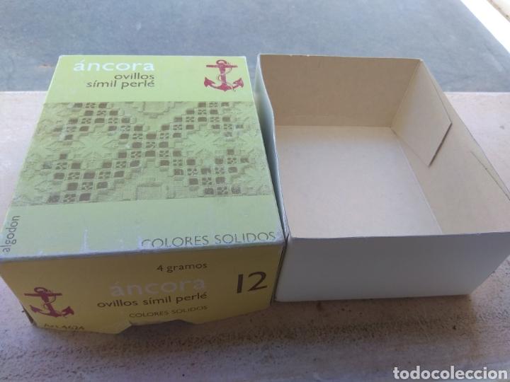 Antigüedades: Caja Ovillos Ancora - Vacía - Hilaturas Fabra y Coats - - Foto 5 - 132480686