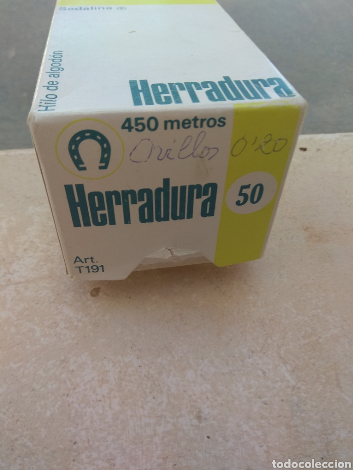 Antigüedades: Pareja Cajas Herradura - Fabra y Coats - Vacías - - Foto 9 - 132483714