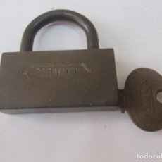 Antigüedades: CANDADO ANTIGUO CON LLAVE. Lote 132485150