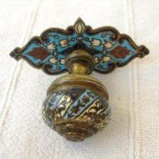 Antigüedades: POMO TIRADOR DE BRONCE CLOISONNE PARA ESCRITORIO... SECANTE... Lote 132650718