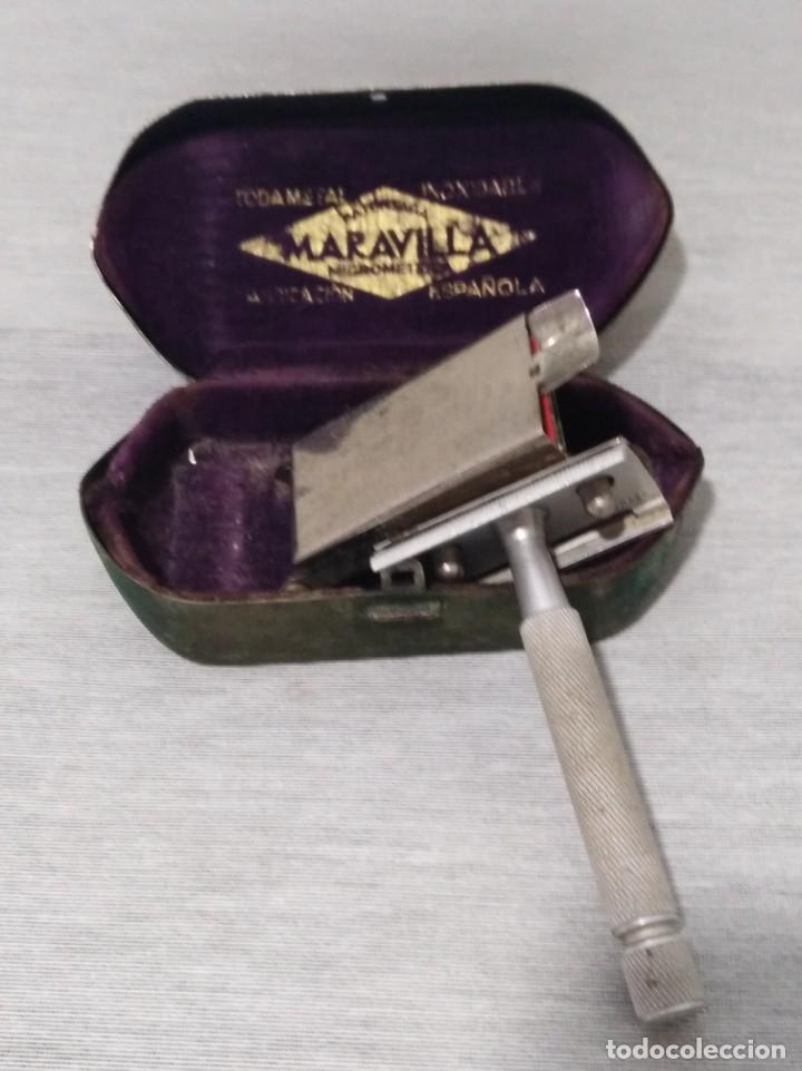 Antigüedades: Antigua maquinilla de afeitar de la marca Maravilla - Foto 2 - 132655354