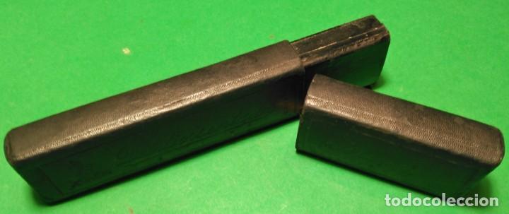 Antigüedades: Caja vacia original para navaja de afeitar o barbero DEL TIO SENTADO 14. Straight razor, Box, Rasoio - Foto 4 - 132772530