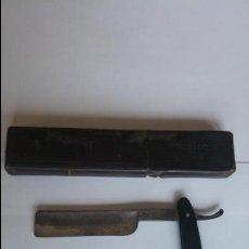 Antigüedades: ANTIGUA NAVAJA DE AFEITAR PRADERE UNION 3 BARCELONA 7 SOLINGEN. Lote 132786298