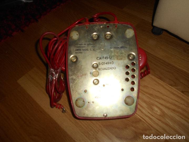 Teléfonos: Antiguo teléfono rojo de teclas modelo HERALDO Citesa Málaga con toma actual Funcionando AÑOS 60 70 - Foto 6 - 132828510