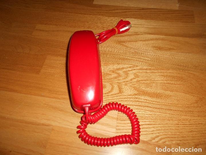 TELÉFONO CITESA VINTAGE GÓNDOLA SOBREMESA COLOR ROJO AÑOS 60 70 (Antigüedades - Técnicas - Teléfonos Antiguos)