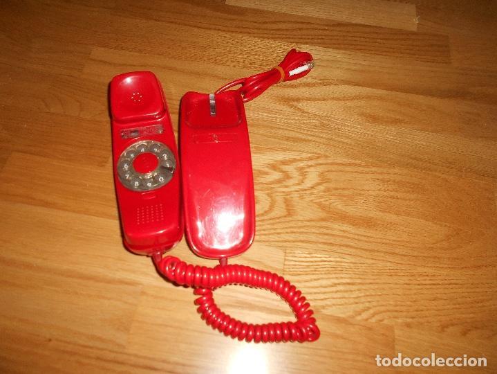Teléfonos: Teléfono CITESA vintage Góndola sobremesa color rojo AÑOS 60 70 - Foto 2 - 132828982