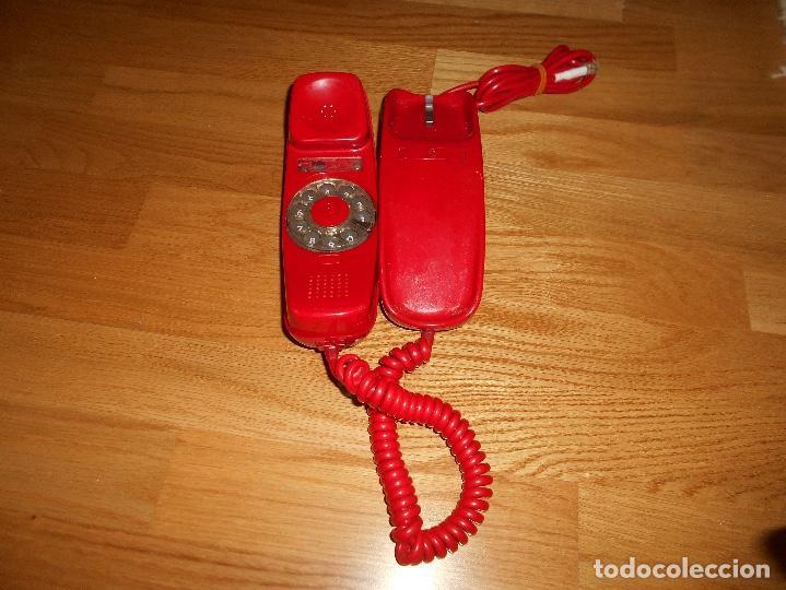 Teléfonos: Teléfono CITESA vintage Góndola sobremesa color rojo AÑOS 60 70 - Foto 3 - 132828982