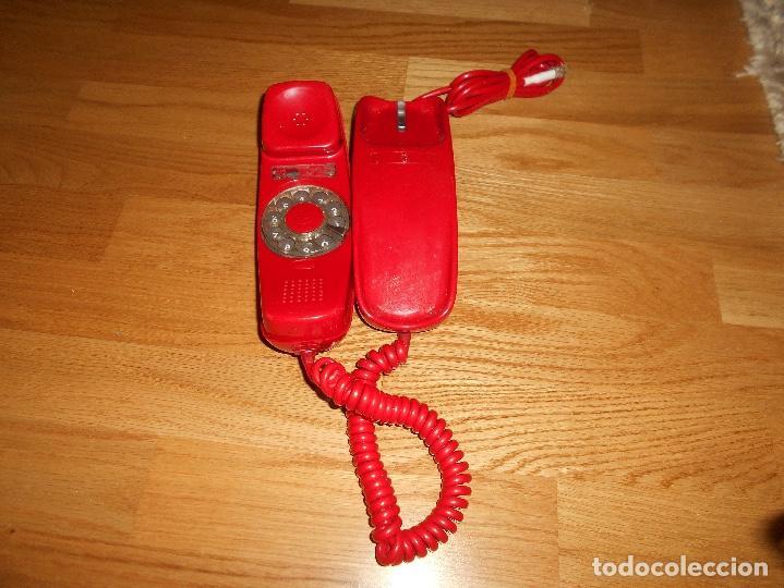 Teléfonos: Teléfono CITESA vintage Góndola sobremesa color rojo AÑOS 60 70 - Foto 4 - 132828982