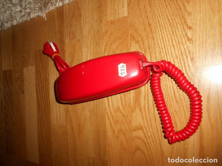 Teléfonos: Teléfono CITESA vintage Góndola sobremesa color rojo AÑOS 60 70 - Foto 5 - 132828982
