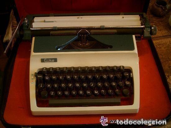MÁQUINA DE ESCRIBIR CON SU MALETÍN - ERIKA (Antigüedades - Técnicas - Máquinas de Escribir Antiguas - Erika)