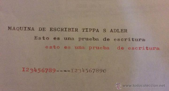 Antigüedades: ANTIGUA MÁQUINA DE ESCRIBIR ADLER TAPA S ,IDEAL COLECCIONISTAS - Foto 2 - 132869050