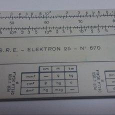 Antiquités: REGLA DE CALCULO ELEKTRON 25 N° 670. Lote 132911033