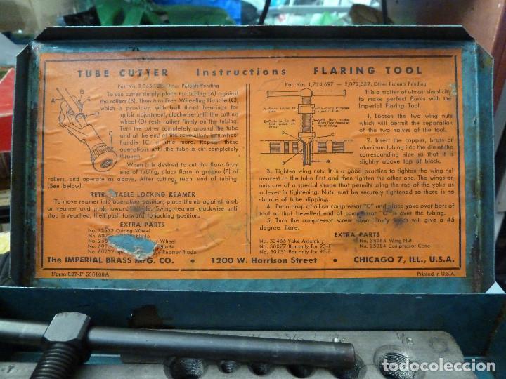 Antigüedades: SET HERRAMIENTAS IMPERIAL TUBINQ TOOL KIT - THE IMPERIAL BRASS MFG - USA - Foto 6 - 132923406