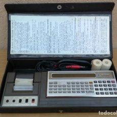 Antigüedades: IMPRESIONANTE ORDENADOR COMPUTADORA POCKET COMPUTER SHARP PC 1211 CO IMPRESORA Y FUNDA ORIGINAL . Lote 132960086