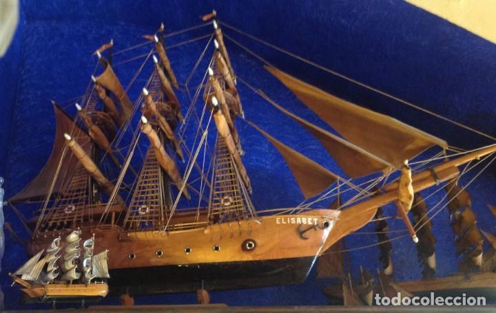 ANTIGUO BARCO ARTESANAL ORIGINAL PIEZA ÚNICA (Antigüedades - Antigüedades Técnicas - Marinas y Navales)