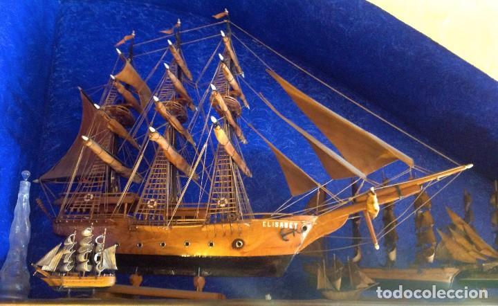 Antigüedades: Antiguo Barco Artesanal Original Pieza Única - Foto 2 - 132982706