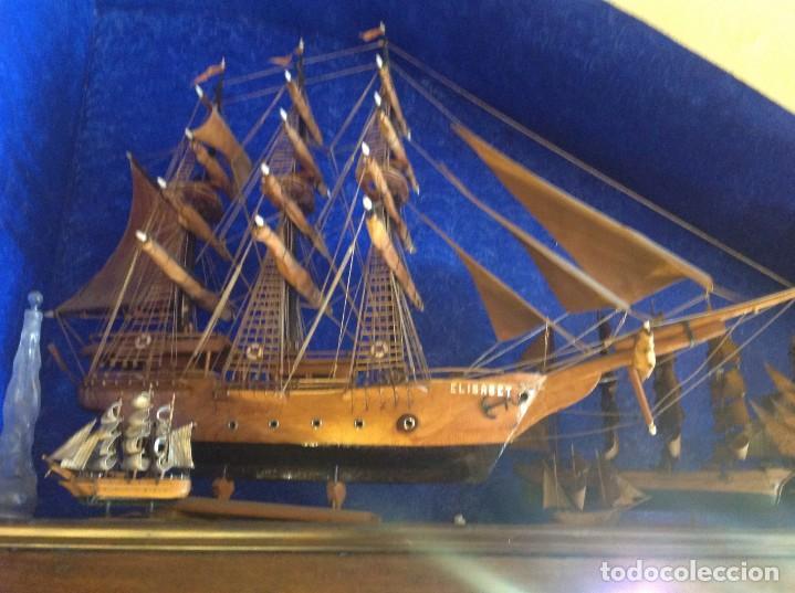 Antigüedades: Antiguo Barco Artesanal Original Pieza Única - Foto 3 - 132982706