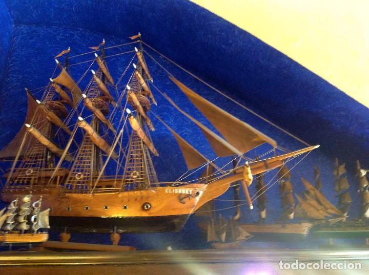 Antigüedades: Antiguo Barco Artesanal Original Pieza Única - Foto 4 - 132982706