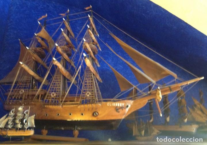 Antigüedades: Antiguo Barco Artesanal Original Pieza Única - Foto 5 - 132982706