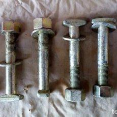 Antigüedades: 6 ANTIGUOS TORNILLOS GRANDES PARA LAS ANTIGUAS TRAVIESAS DE MADERA DE LAS VIAS DE TREN. Lote 133053366