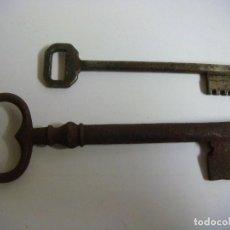 Antigüedades: LLAVES ANTIGUAS DE HIERRO LOTE DE 2 LLAVES (#). Lote 133056854