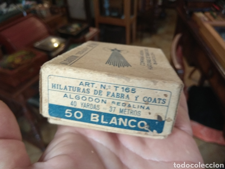 Antigüedades: Antigua Caja Hilaturas Fabra y Coats con Carretes de Hilo - Foto 6 - 133243361