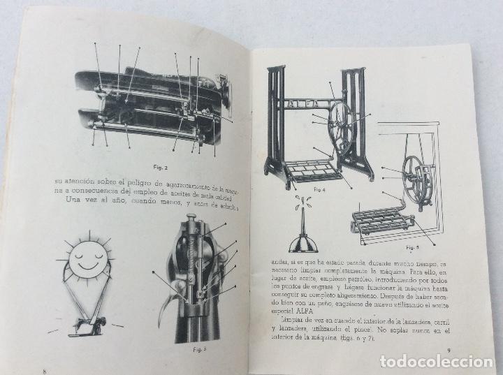 Antigüedades: Libro de instrucciones para maquina de coser alfa - Foto 2 - 218101015