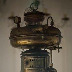 Antigüedades: LAMPARA TIPO PETROMAX 834 TODO LATON. Lote 133298538