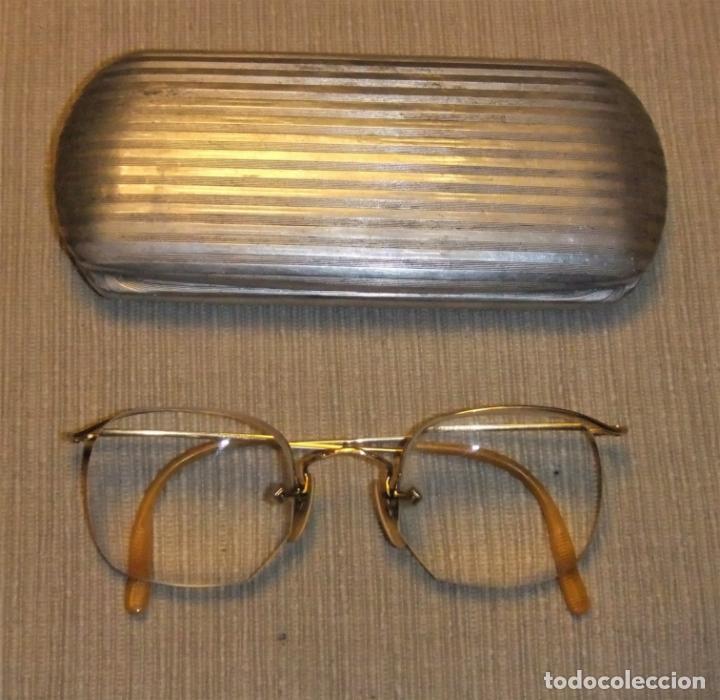 ANTIGUAS GAFAS CON MONTURA BAÑADA EN ORO DE 12 K (Antigüedades - Técnicas - Instrumentos Ópticos - Gafas Antiguas)