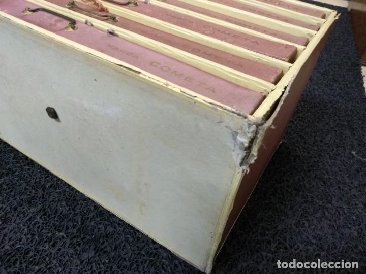 Antigüedades: Caja de hilos de cartón con seis cajones - Foto 4 - 133417338