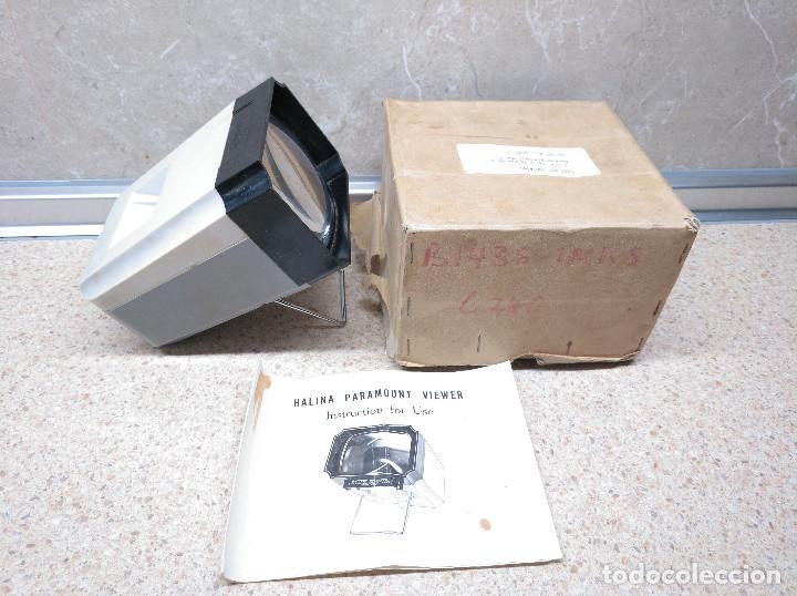 Antigüedades: PROYECTOR VISOR DIAPOSITIVAS HALINA PARAMOUNT VIEWER EN CAJA ORIGINAL. - Foto 2 - 133450794